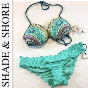 Shade & Shore Turquoise Bikini - 36B/M - NEW!!